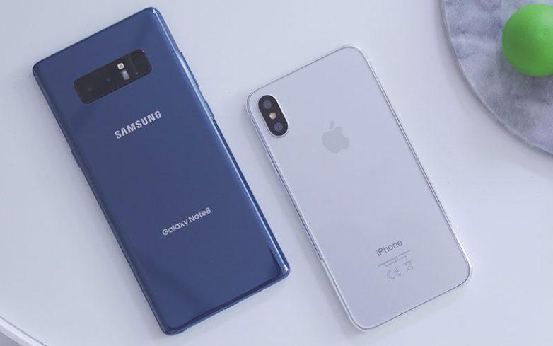 Gigantide heitlus: kumb on parem kaameratelefon– kas iPhone 8 Plus või Samsung Note 8?