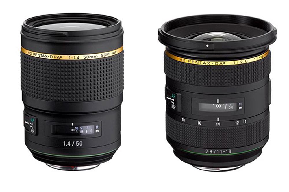 Pentax peegelkaameratele on arendusjärgus kaks uut ★ objektiivi: FA 50mm F1.4 ja DA 11-18mm F2.8