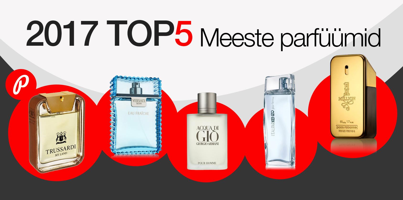 Photopointi TOP 5 - enim ostetud meeste parfüümid aastal 2017
