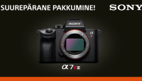 Osta ära: Sony a7R III täiskaader hübriidkaamera soodushinnaga + kaasa kingitus
