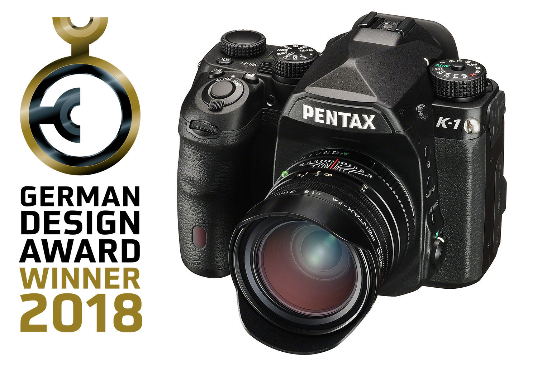 Pentax K-1 peegelkaamera pälvis German Design Award disainiauhinna