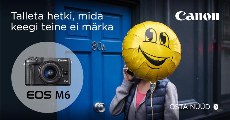 Canon EOS M6 hübriidkaamera on 250-379€ soodsam + kingitus