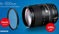 Võimsa Tamron 16-300mm PZD Macro supersuumi ostul kingituseks kvaliteetne UV filter