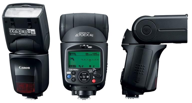 Canon Speedlite 470EX-AI välklamp muudab automaatselt valguse suunda