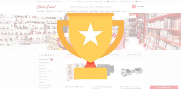 Photopointi veebikaubamaja valiti Baltikumi kõige kasutajasõbralikuma e-kaupluse konkursil finaali