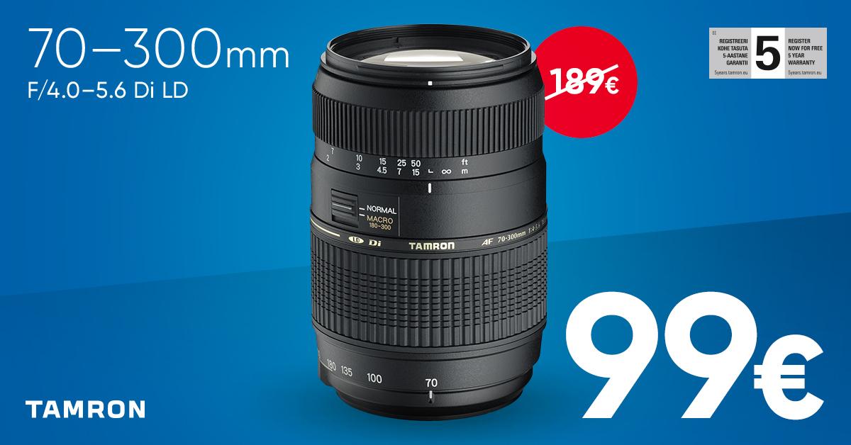 Tamron AF 70-300mm f/4.0-5.6 Di LD objektiiv