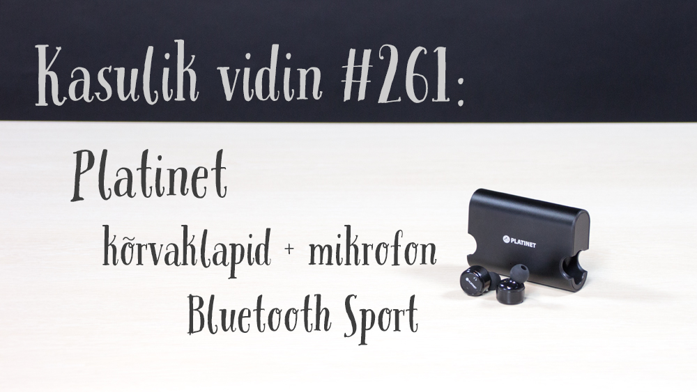 Kasulik vidin #261: Platinet Bluetooth kõrvaklapid + mikrofon Sport PM1080