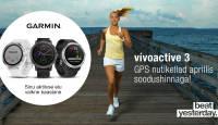 Hakka pihta - Garmin Vivoactive 3 GPS nutikell on aprillis soodushinnaga