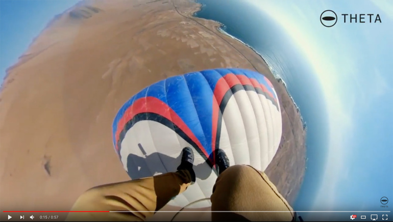 Efektne väikse planeedi video Ricoh Theta V 360° kaameraga - Tšiili kõrbest