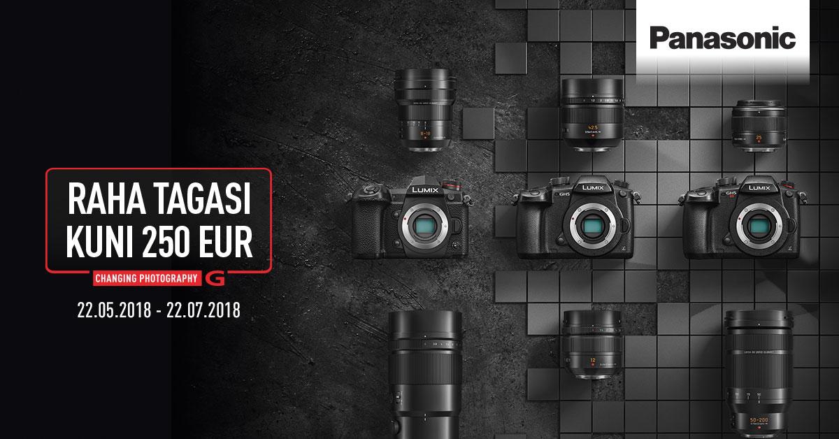 Valitud Panasonic Lumix fototehnika ostul saad kuni 250€ tagasi 💶💶