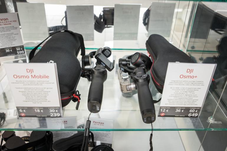 Nüüd rentimiseks saadaval: DJI Osmo Mobile ja DJI Osmo+ stabilisaatorid