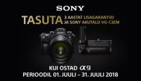 Hübriidkaamerate maailma valitseja Sony a9 ostul saad kaasa lisasid 521€ väärtuses!
