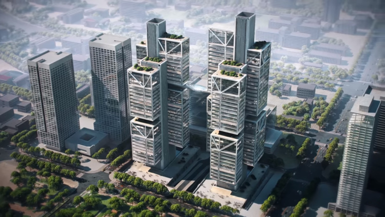 DJI uue innovaatilise kaksiktornidega peakontori ehitus on alanud
