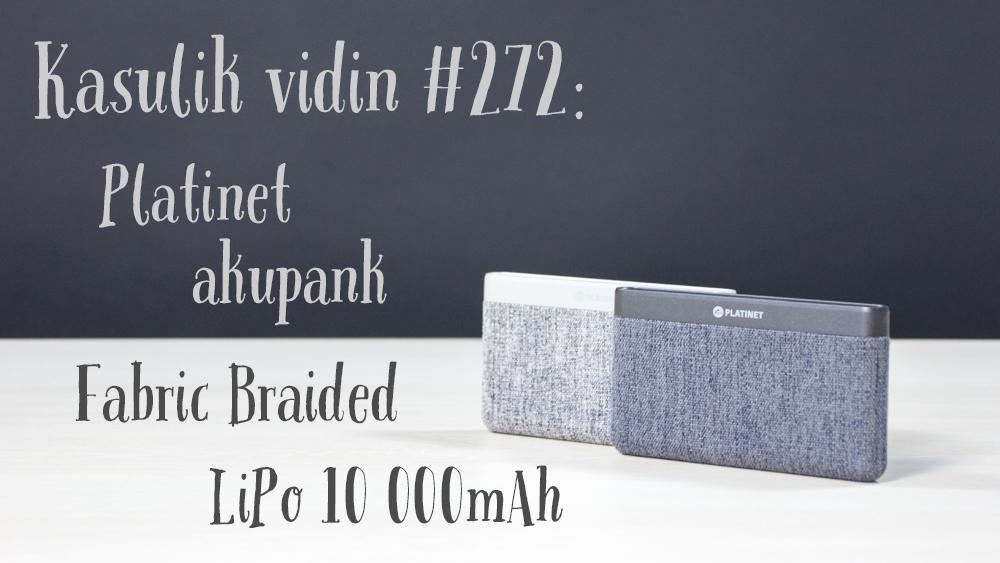 Kasulik vidin #272: Platinet akupank Fabric Braided LiPo 10 000mAh
