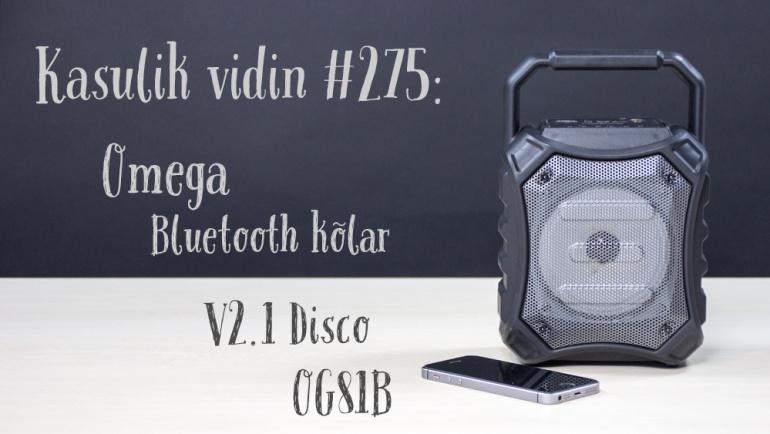 Kasulik vidin #275: Omega Bluetooth kõlar V2.1 Disco OG81B
