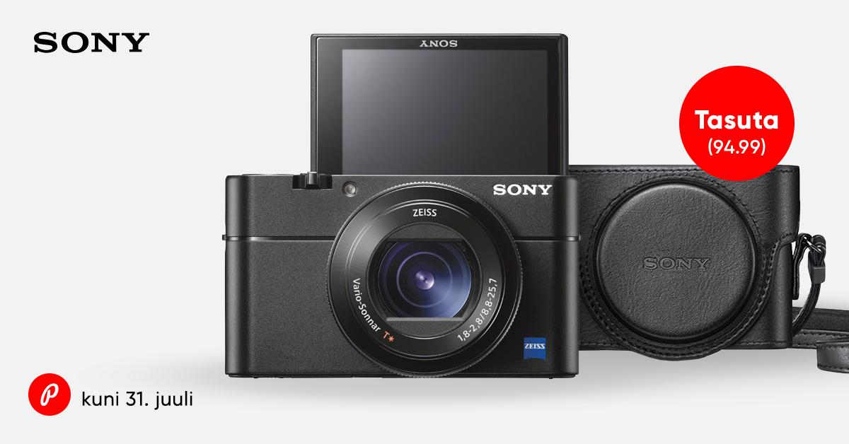 Tippmudelid Sony RX100 IV ja V soodushinnaga ning kingituseks nahast vutlar + raha tagasi
