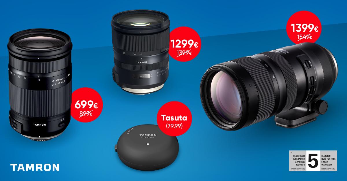 Valitud Tamron objektiivide ostul saad kingituseks TAP-in objektiividoki