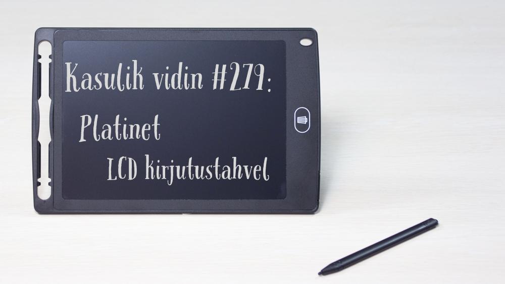 """Kasulik vidin #279: Platinet LCD kirjutustahvel 8,5"""""""