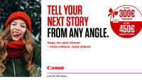 Valitud Canon kampaaniatoote ostul saad Canonilt kuni 300€ tagasi või kuni 450€ krediiti