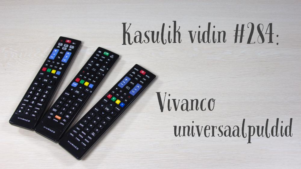 Kasulik vidin #284: Vivanco universaalpuldid Sony/Samsung/LG/Philips