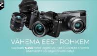 Osta valitud Fujifilm hübriidkaamera või objektiiv ja saad Fujifilmilt kuni 300€ tagasi
