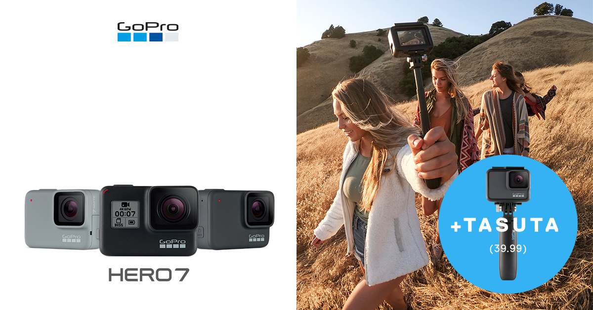Uue GoPro HERO7 kaamera ostul saada kauba peale kaks-ühes käsistatiivi
