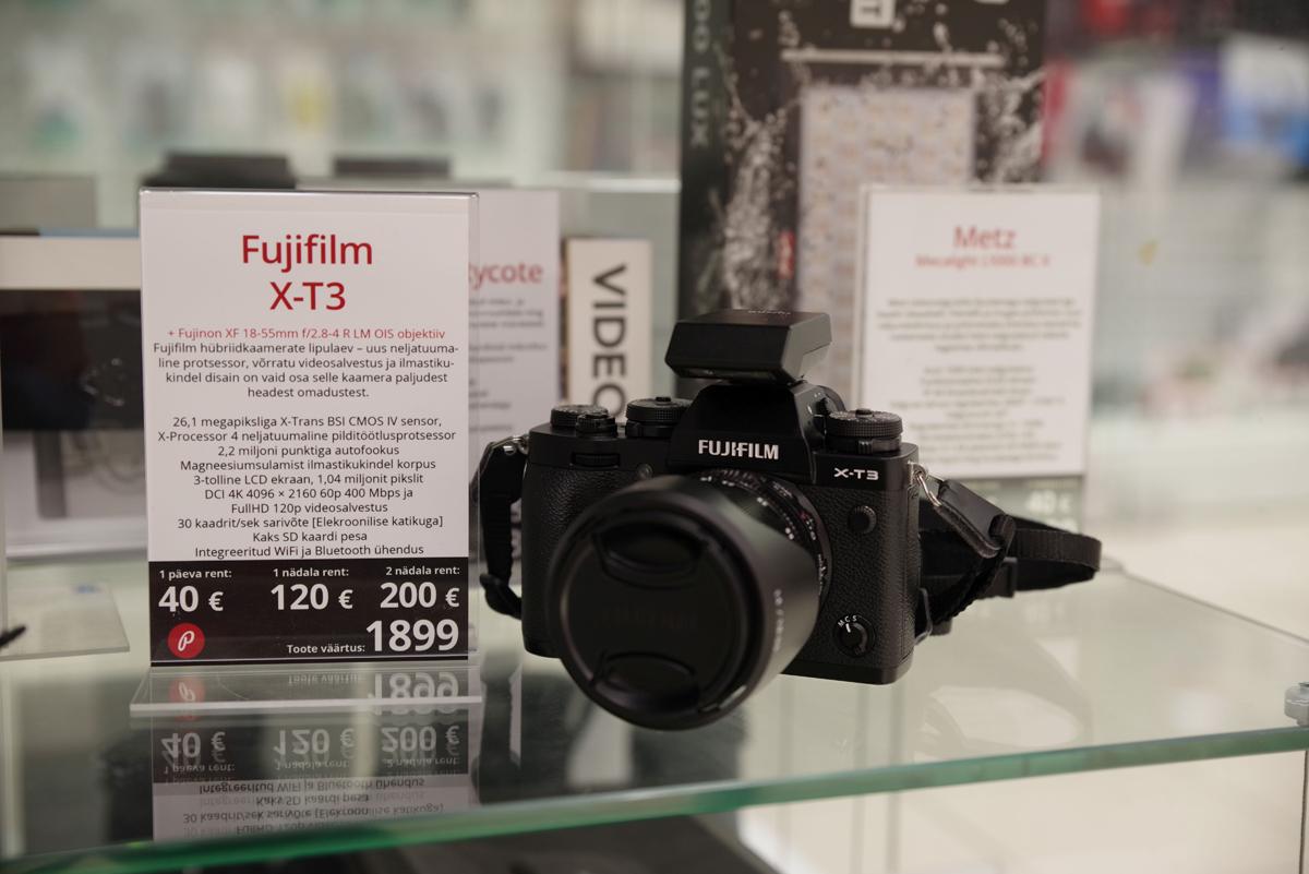 Nüüd Tallinnas rentimiseks saadaval võimekas Fujifilm X-T3 + 18-55mm hübriidkaamera