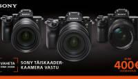 Aeg on enda vana digikaamera vahetada Sony profiklassi hübriidkaamera vastu