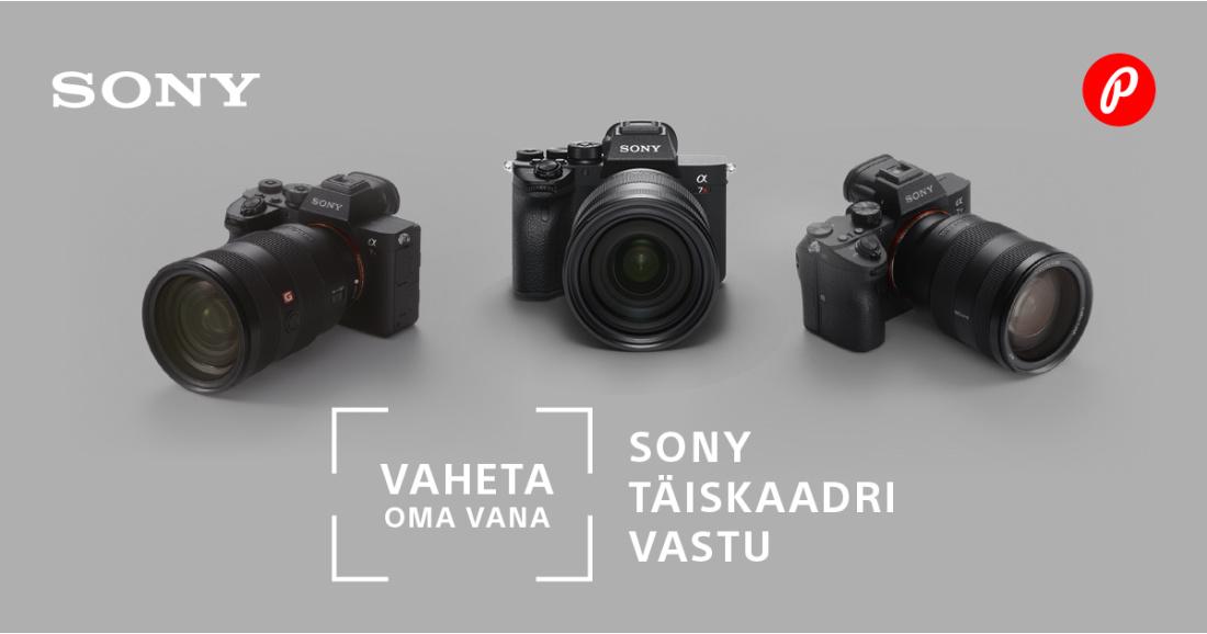 Sony täiskaader hübriidkaamerad