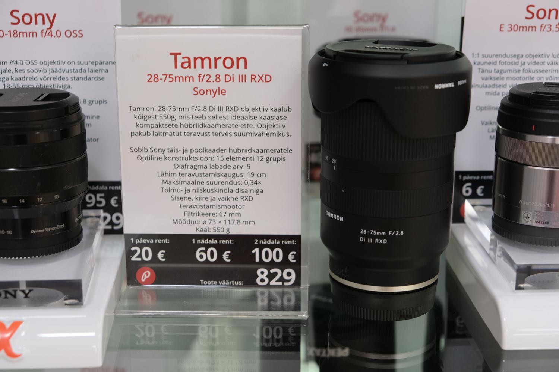 Nüüdsest Photopointi fototehnika rendis: Tamron 28-75mm f/2.8 Di III RXD objektiiv Sony täiskaadritele