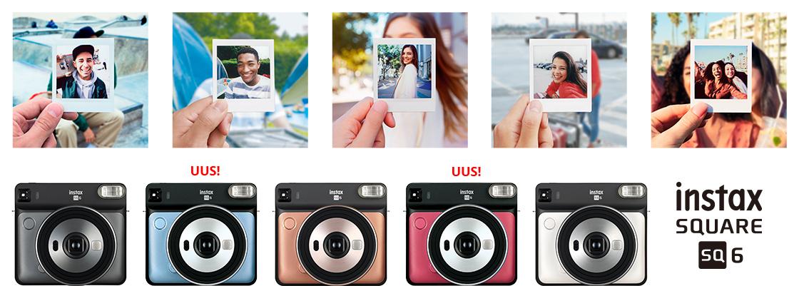 Nüüd on saadaval kaks uut särtsaka värvusega Fujifilm Instax SQ6 kiirpildikaamerat
