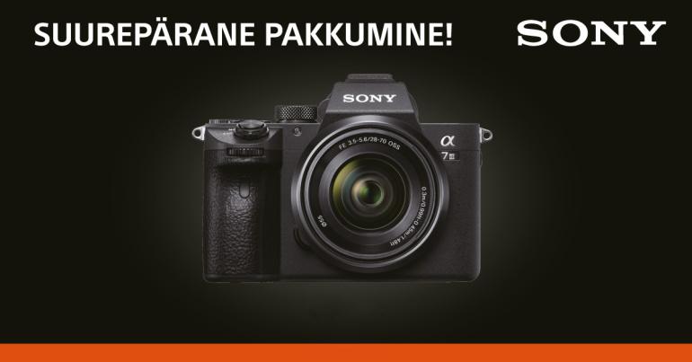 Need Sony kaamerate eripakkumised kehtivad ainult E-smaspäeval