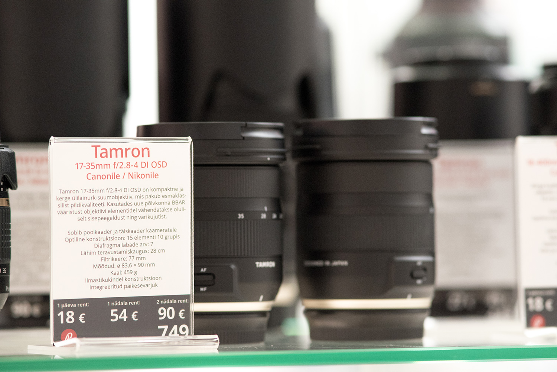Nüüd rentimiseks saadaval: Tamron 17-35mm f/2.8-4.0 lainurkobjektiivid