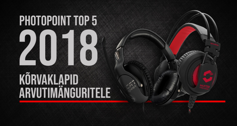Photopointi TOP 5 – enim ostetud arvutimängurite kõrvaklapid