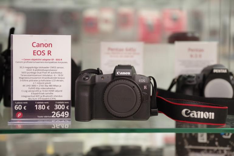 Rentimiseks saadaval: revolutsiooniline Canon EOS R täiskaader hübriidkaamera