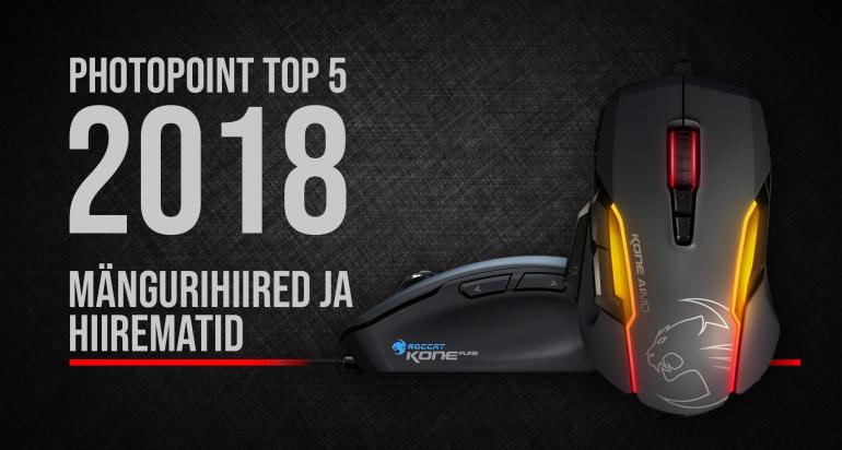 Photopointi TOP 5 – enim ostetud mängurihiired ja hiirematid aastal 2018
