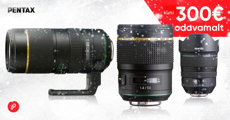 Too vana objektiiv meile ja valitud HD Pentax objektiiv on sulle kuni -300€