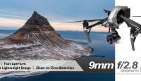 Venus Optics Laowa 9mm F2.8 on kõige laiema vaatenurgaga objektiiv DJI inspire 2 drooni X7 kaamerale