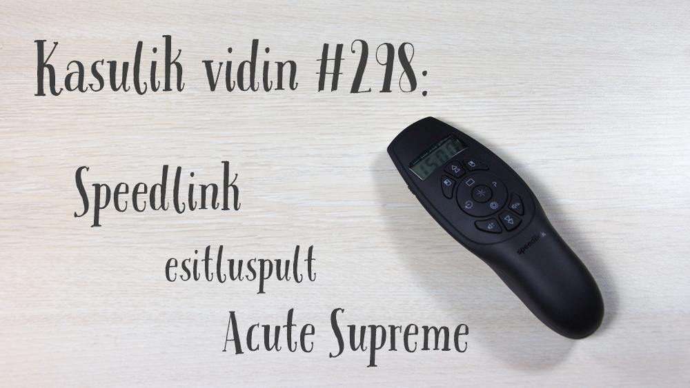 Kasulik vidin #298: Speedlink esitluspult Acute Supreme