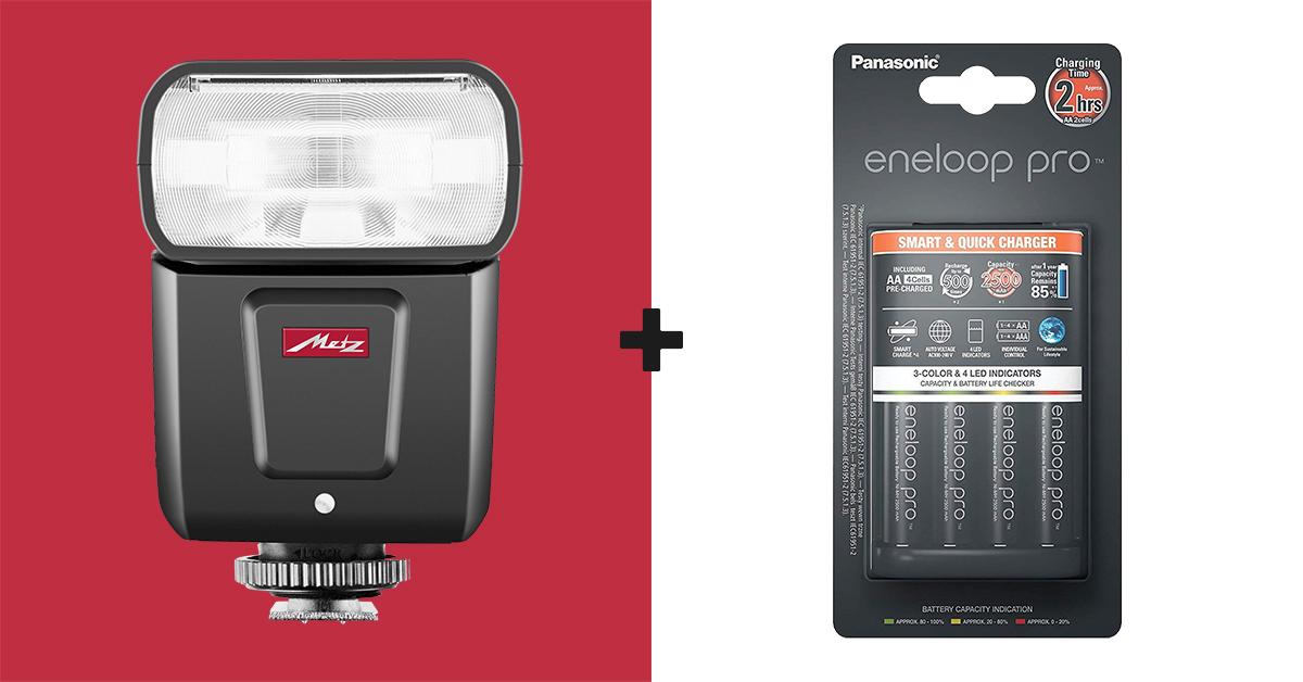 Metz M360 välklambi ostul saad kingituseks Panasonic eneloop Pro laadija + akud