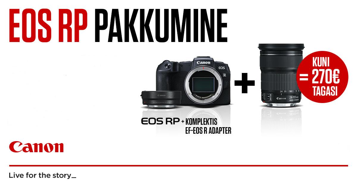 Osta uus EOS RP kaamera koos valitud objektiiviga ja saad Canonilt raha tagasi