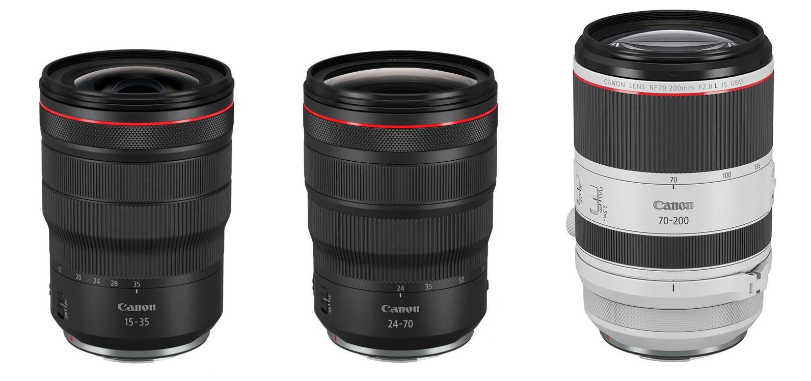 Canonilt kolm f/2.8 avaga profiobjektiivi hübriidkaameratele: 15-35mm, 24-70mm ja 70-200mm