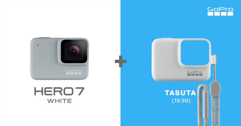 GoPro HERO7 White kaamera ostul lisaks tasuta funktsionaalne kaitseümbris