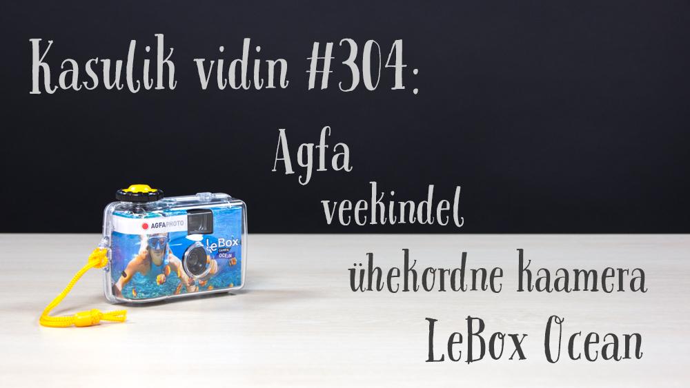 Kasulik vidin #304: Agfa veekindel ühekordne kaamera LeBox Ocean 400/27
