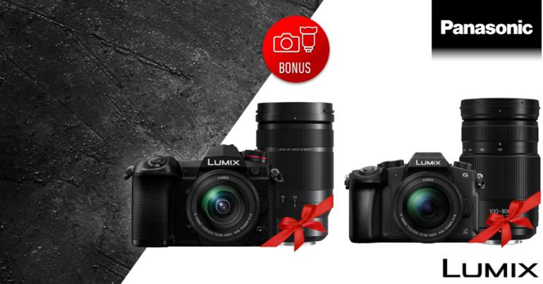 Osta Lumix G9 või G80 koos valitud Panasonic objektiiviga ja saad 200-500€ lisaallahindlust
