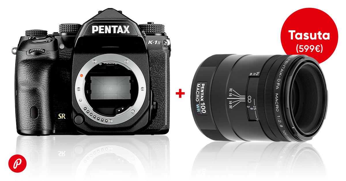 Pentax peegelkaamerate lipulaeva K-1 II ostul saad 599€ suuruse kingituse