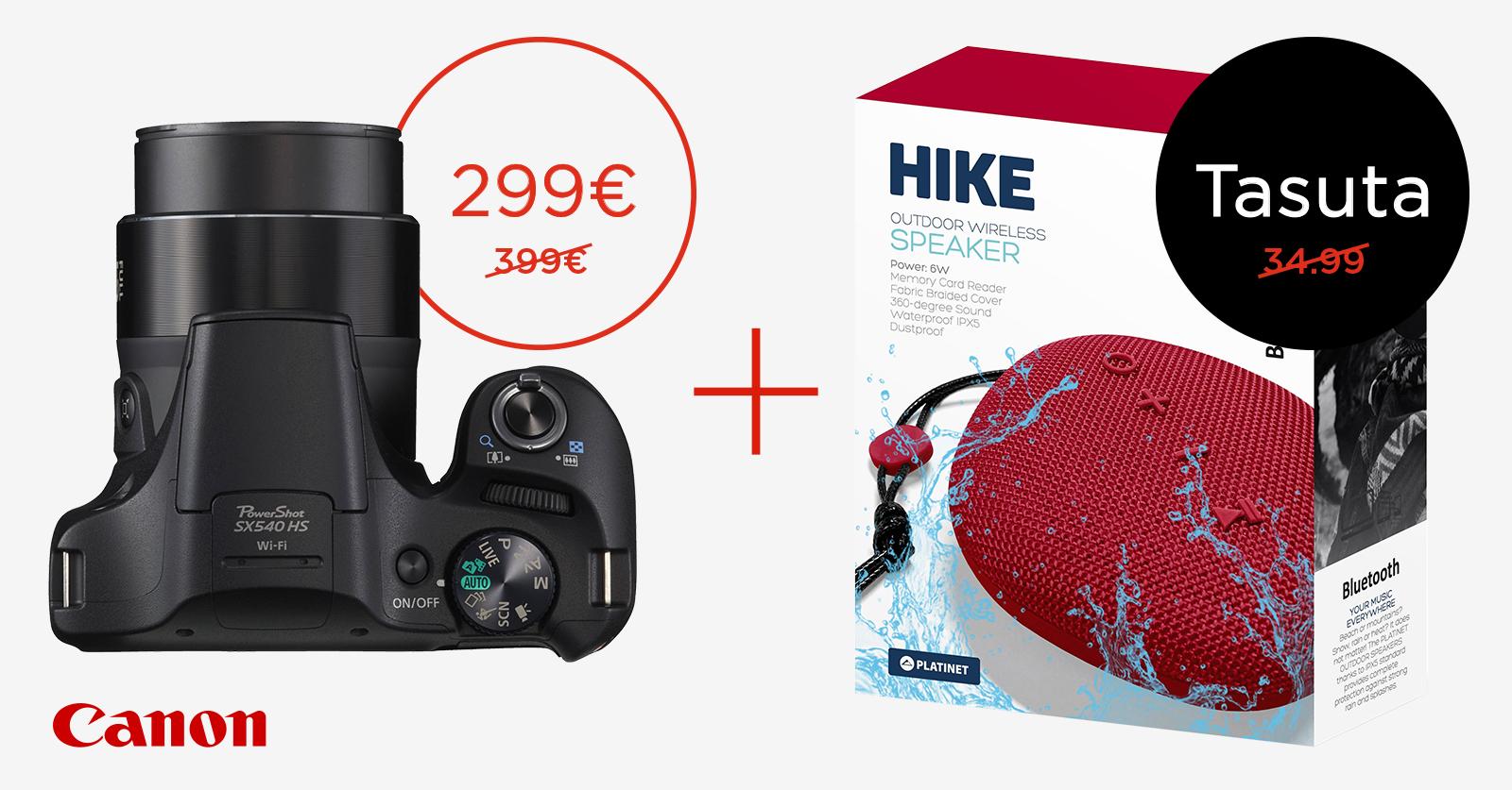 Valitud Canon PowerShot reisisuumid soodushinnaga + ostul praktiline kingitus