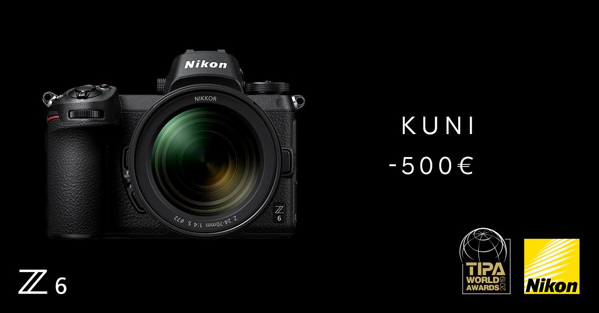 Vaimustav Nikon Z 6 on praegu tavahinnast kuni 500€ soodsam