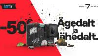 Reisi täiega - GoPro HERO7 Black on praegu 50€ odavam