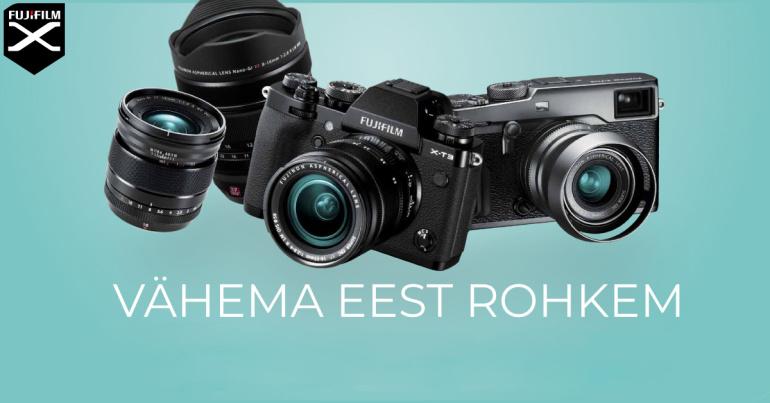 Osta valitud Fujifilm hübriidkaamera või objektiiv ja saad Fujifilmilt kuni 400€ tagasi